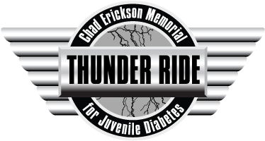 Chad Erickson Memorial Thunder Ride For Juvenile Diabetes Logo